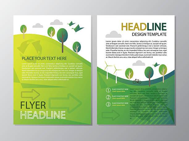 Environment of flyer headline template design vector art illustration