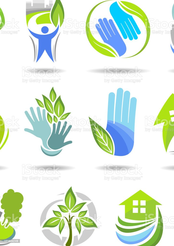 Environment simbols royalty-free environment simbols stock vector art & more images of arts culture and entertainment