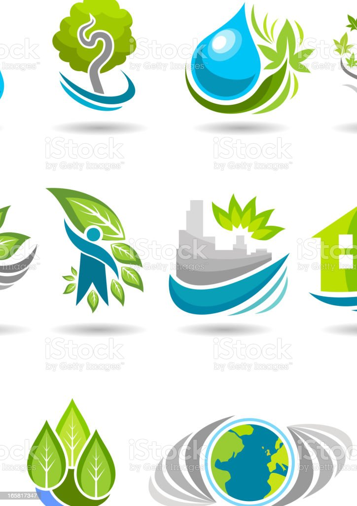 Environment symbols royalty-free stock vector art