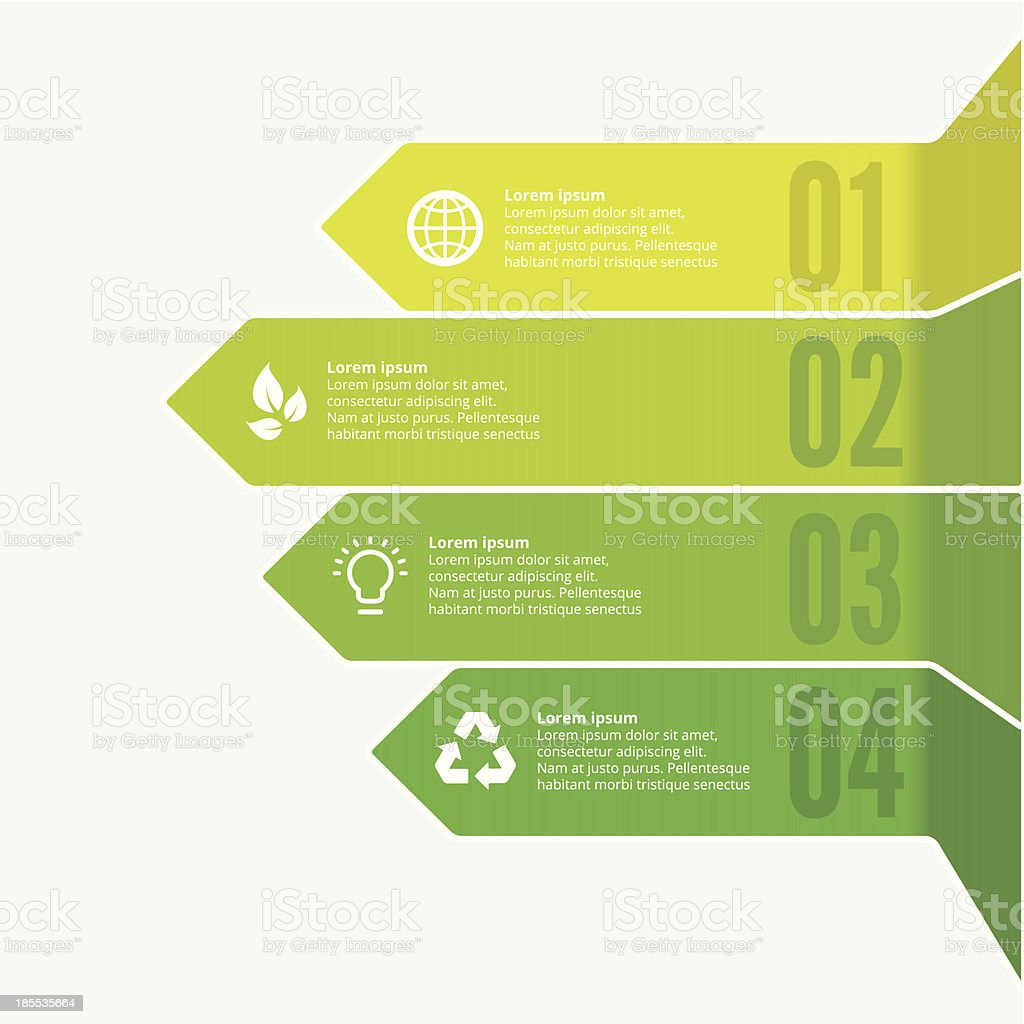Environmental Arrows vector art illustration
