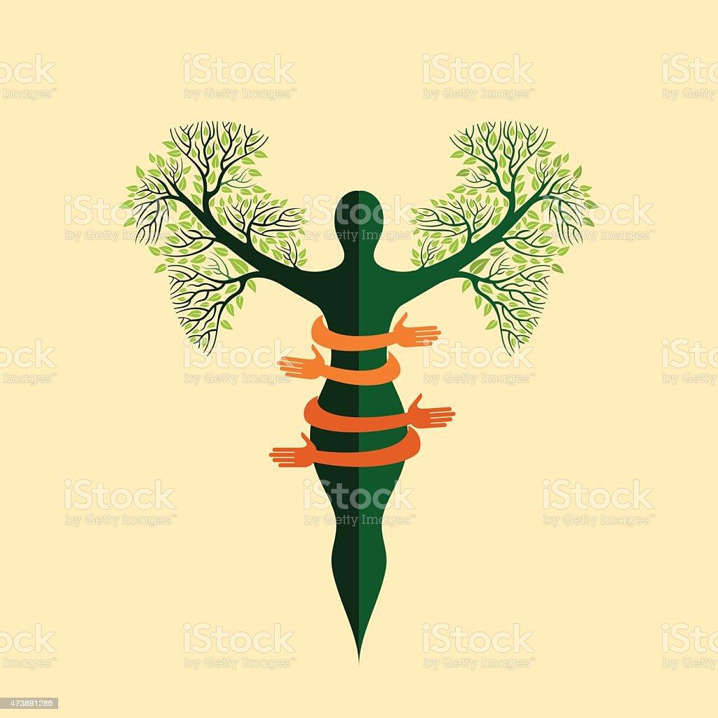 environmental care vector vector art illustration
