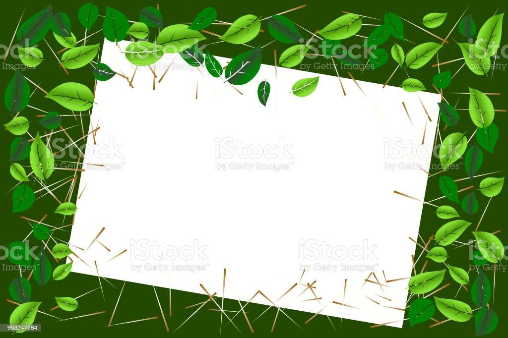 Ilustración de Concepto De Medio Ambiente Hojas De Color Verde Marco ...