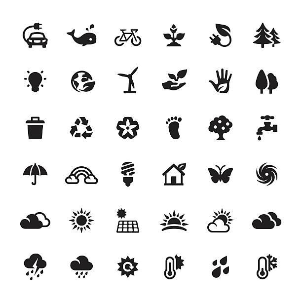La préservation de l'environnement et d'énergie Solution de rechange de Symboles et icônes vectorielles - Illustration vectorielle