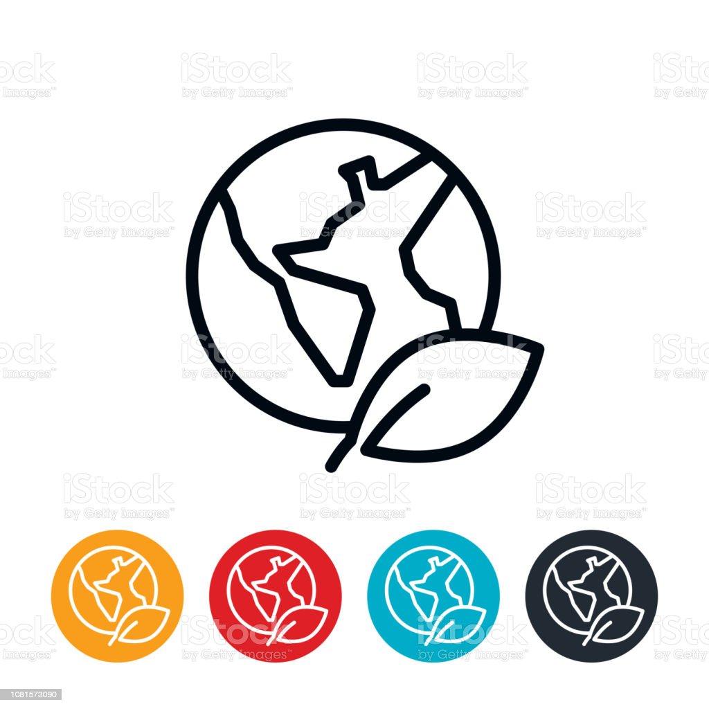 Environmental Conservation Icon vector art illustration