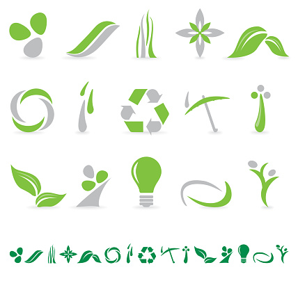 Environmental Conservation Icons - 2 color version