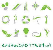 Environmental Green Icon Collection