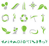 Environmental Green Icon Collection