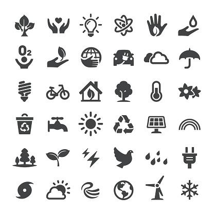 Environmental Conservation Icons Set - Big Series