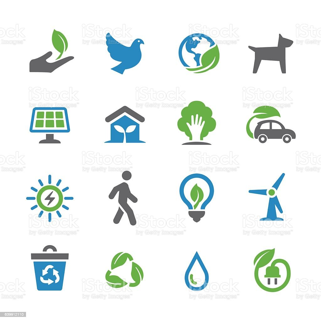 Environmental Conservation Icons - Spry Series vector art illustration