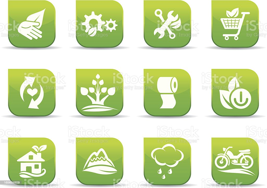 Environmental conservation icons royalty-free stock vector art