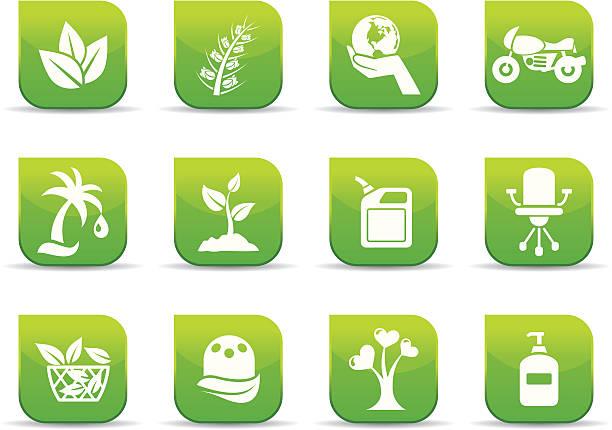 Environmental conservation icons vector art illustration