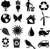 environmental conservation icons
