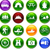 environmental conservation sixteen royalty free vector icon set