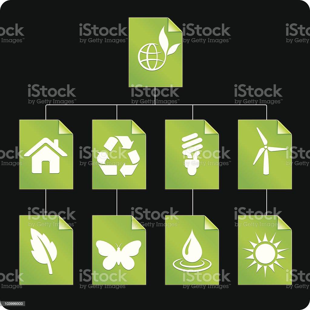 Environmental conservation (tree digram) royalty-free stock vector art