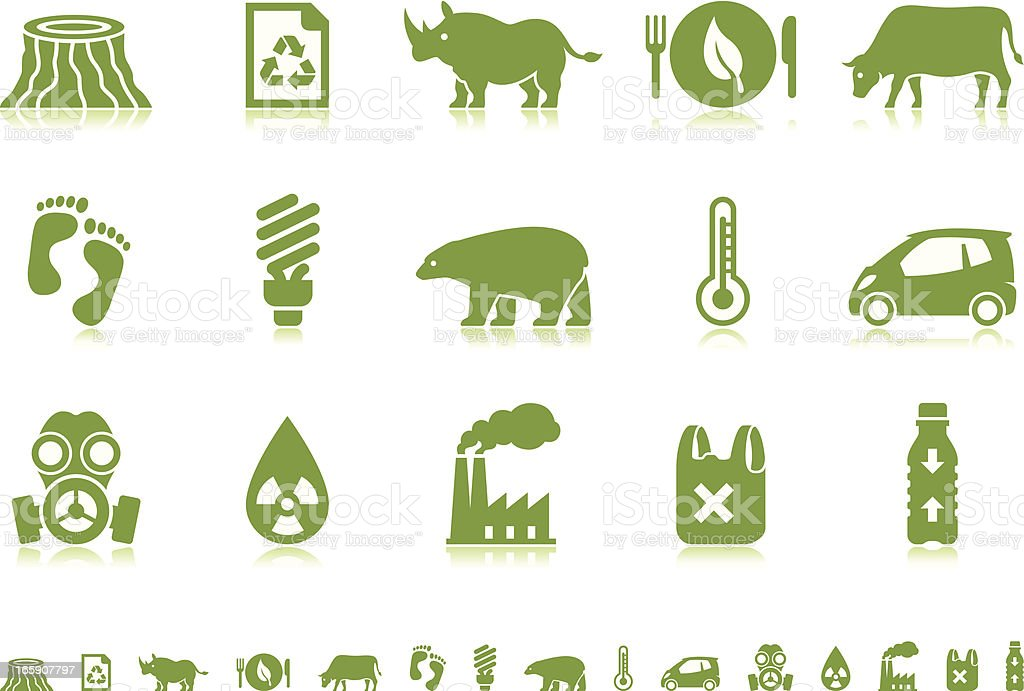 Environmental Crisis icons | Pictoria series vector art illustration