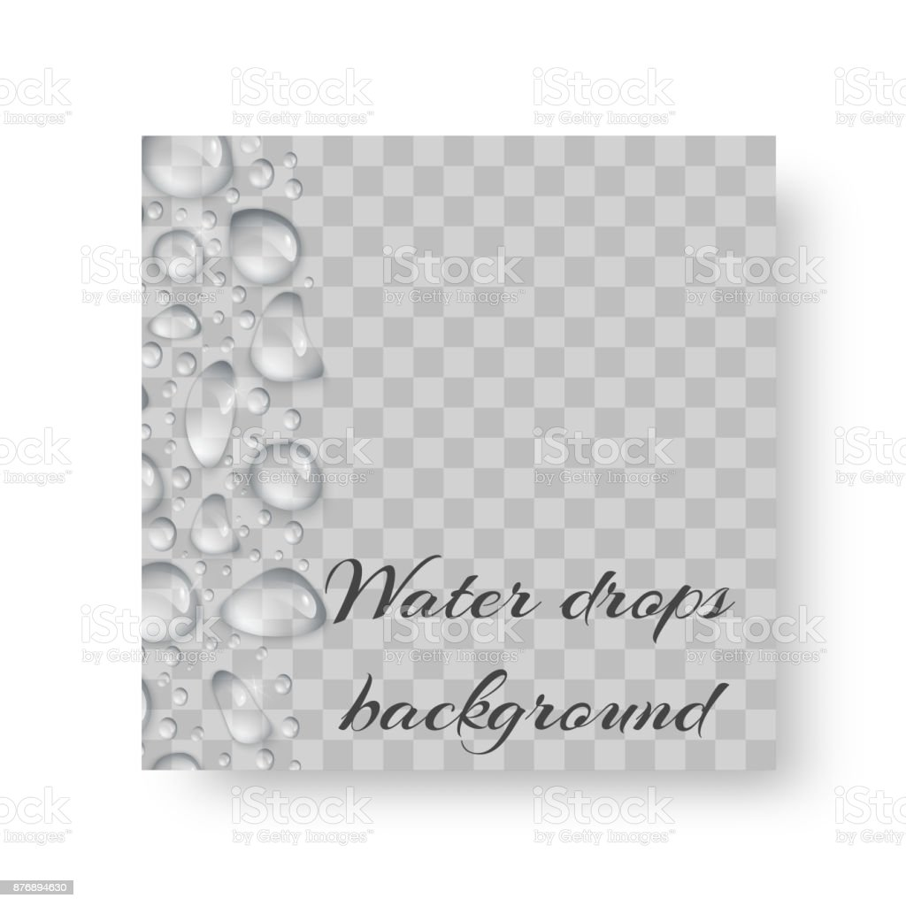 Environmental design with water drops vector art illustration