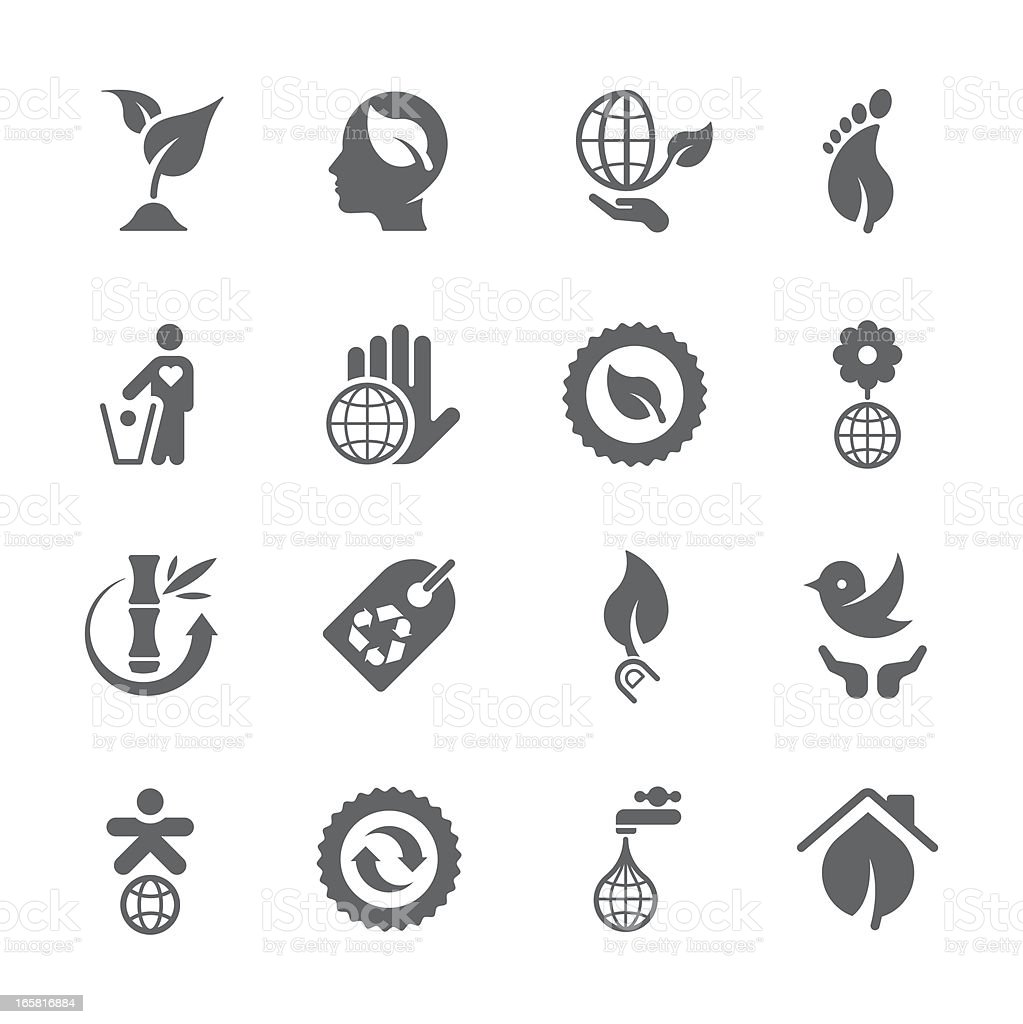 Environmental icon concepts | prime series royalty-free stock vector art