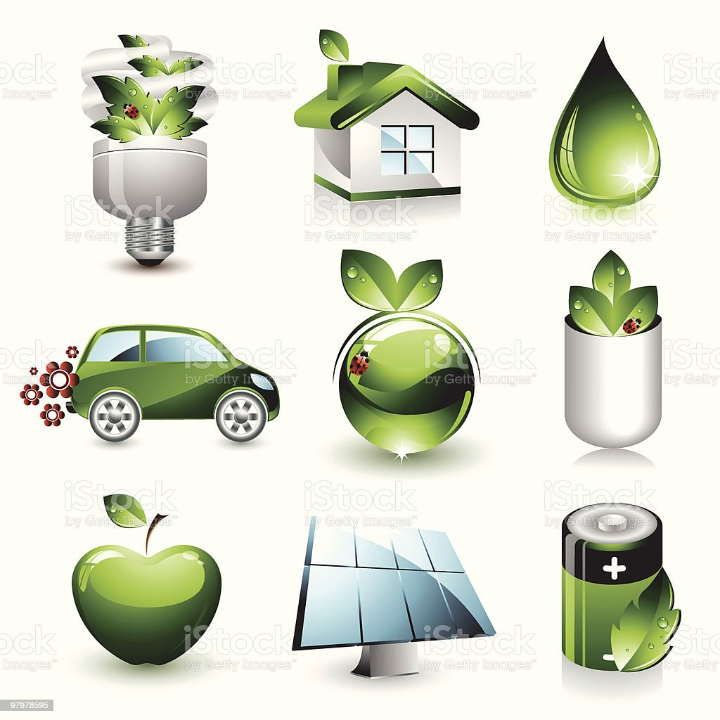 Environmental Icons royalty-free environmental icons stock vector art & more images of apple - fruit