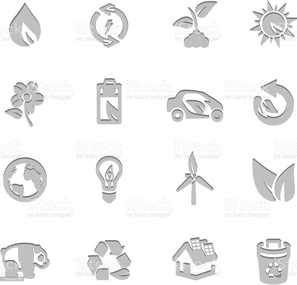 Environmental Imprint Symbols vector art illustration