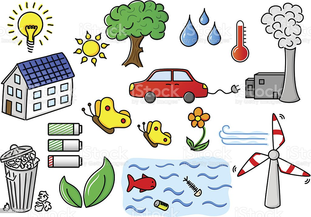 environmental pollution and green energy icons royalty-free environmental pollution and green energy icons stock vector art & more images of air pollution