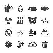 Environmental Problems Icons - Acme Series