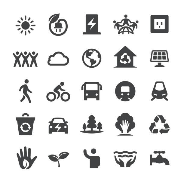 Environmental Protection Icons - Smart Series Environmental Protection Icons electric car stock illustrations