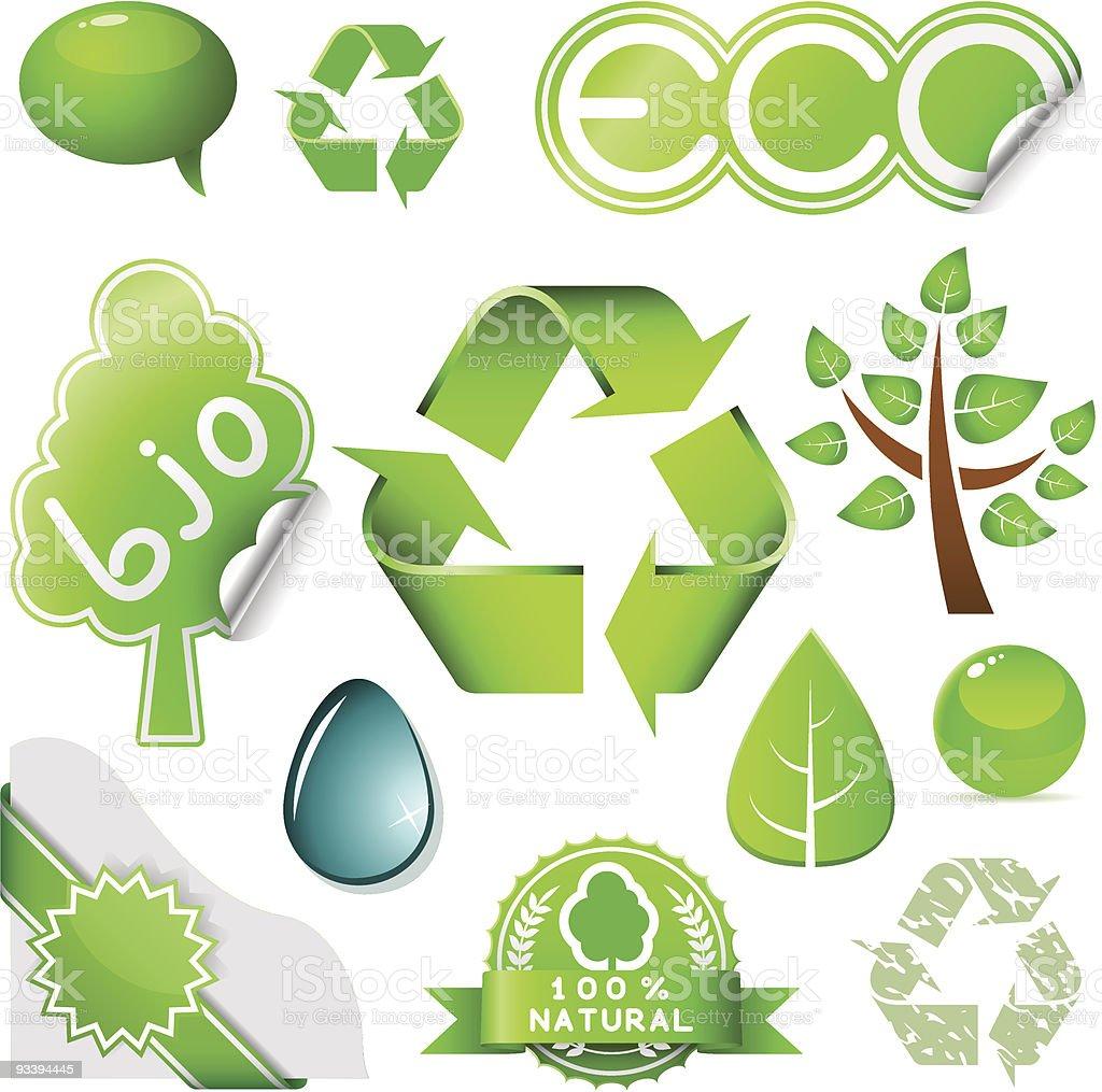 Environmental set royalty-free stock vector art