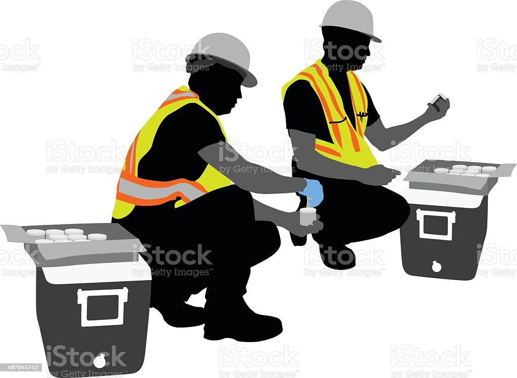 Environmental Testing Soil Samples vector art illustration