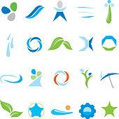 Abstract natural logos or icons