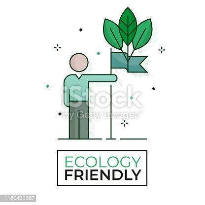 Environmentalist protestor icon - Ecology friendly - Editable stroke