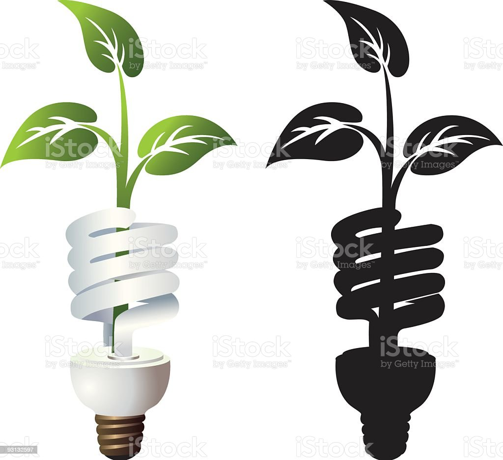 Environmentally Energy Efficient Light Bulb Illustration royalty-free stock vector art