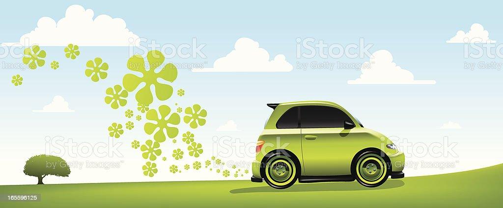 Environmentally Friendly Car vector art illustration