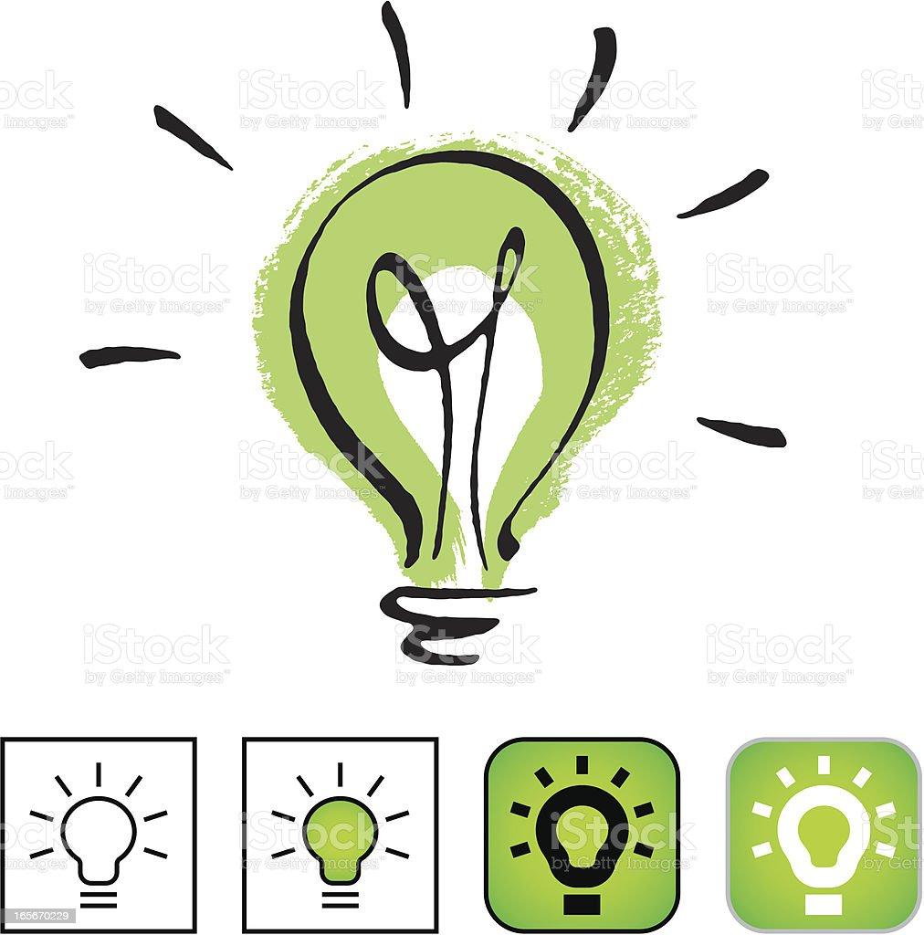 Environmentally friendly light bulb. royalty-free stock vector art