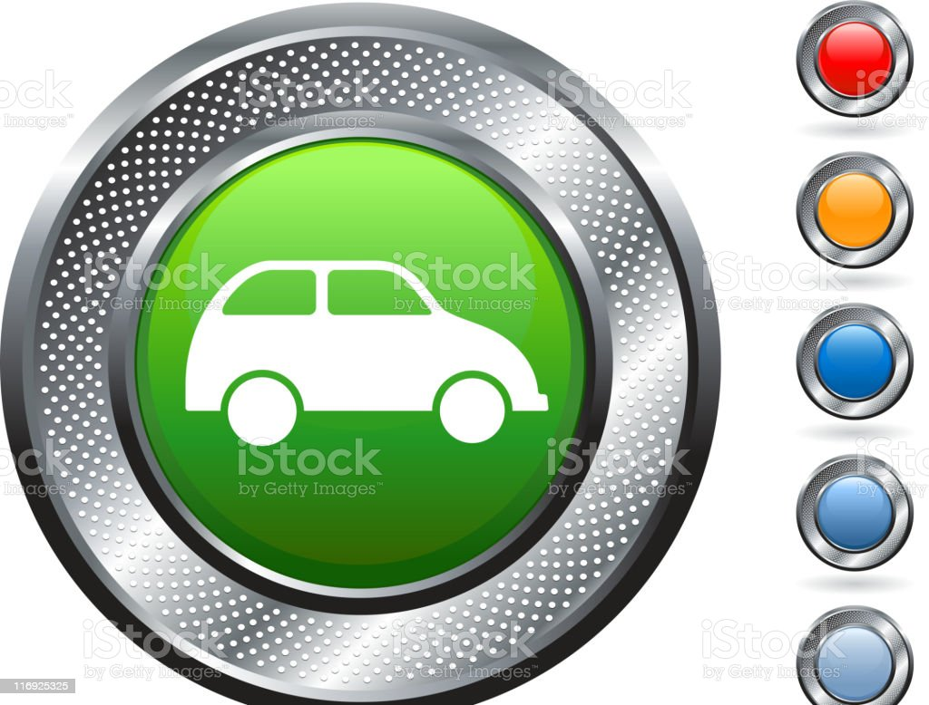 environmentally-friendly royalty free vector art on metallic button royalty-free stock vector art