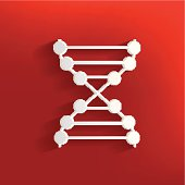 Enzyme design on red background,clean vector