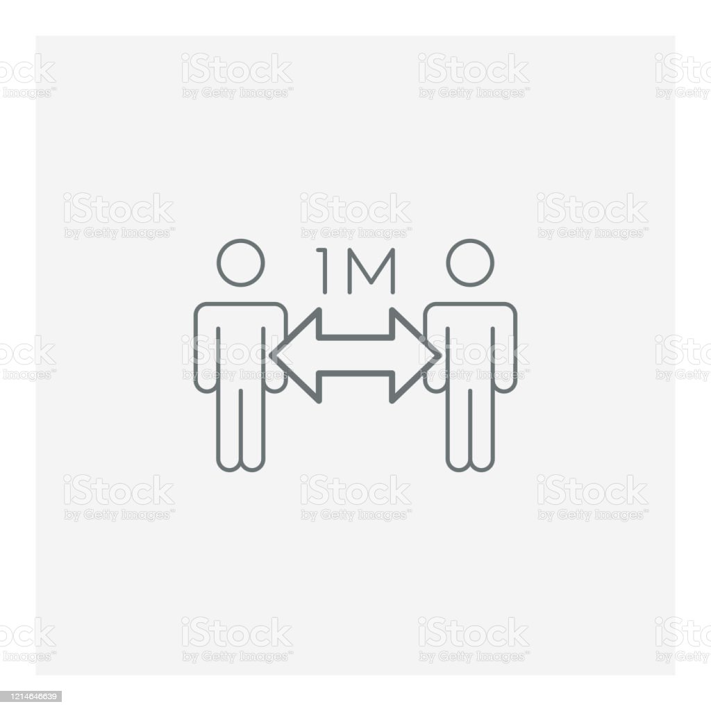 Epidemic social distance icon Epidemic social distance icon, vector illustration. EPS 10. Alertness stock vector