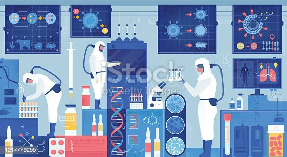 istock Epidemiology Lab Virus Vaccine Or Drug Research 1217779255