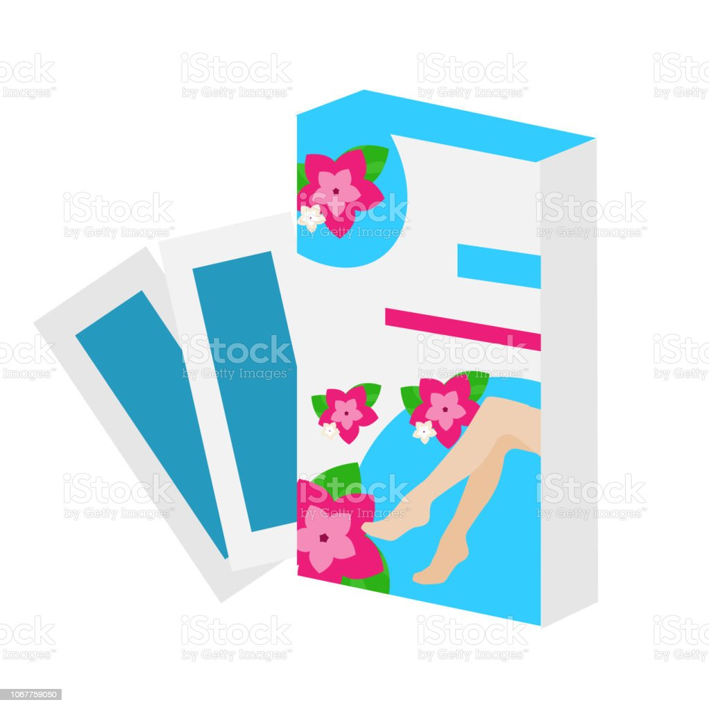 Epilation And Hair Removal Wax Stripes Vector Icon Stock