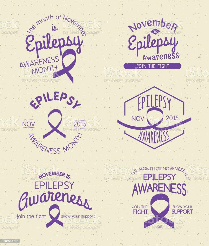Epilepsy Awareness Month vector art illustration