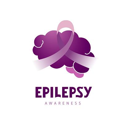 Epilepsy handwritten lettering vector illustration EPS 10