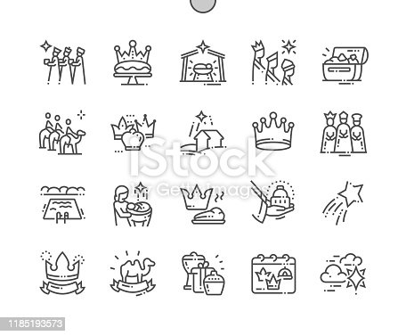 istock Epiphany Well-crafted Pixel Perfect Vector Thin Line Icons 30 2x Grid for Web Graphics and Apps. Simple Minimal Pictogram 1185193573