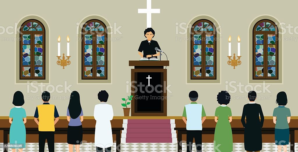 Episcopal Church vector art illustration