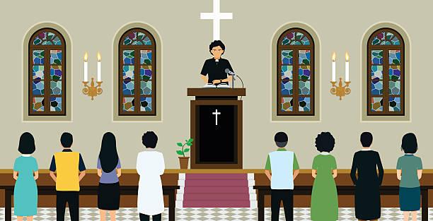 Royalty Free Church Interior Clip Art, Vector Images ...