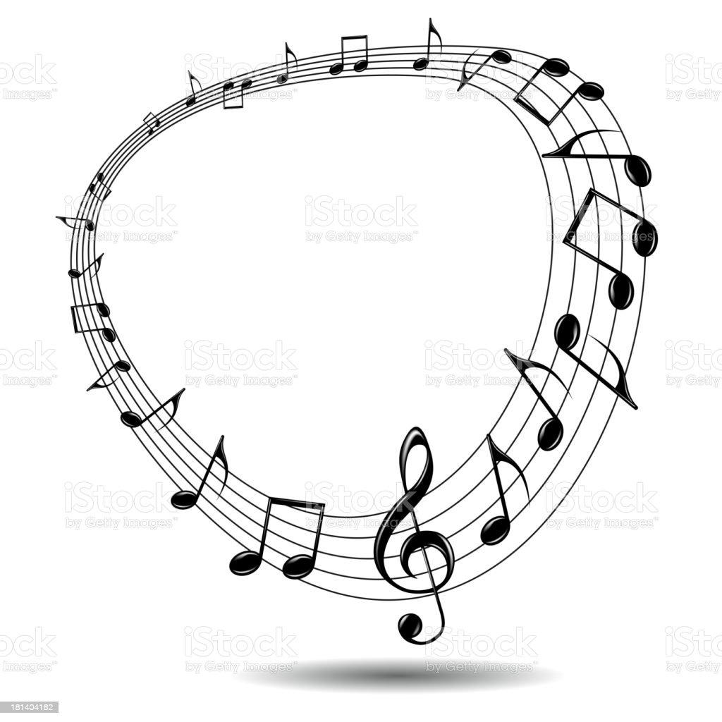Eps music background. vector art illustration