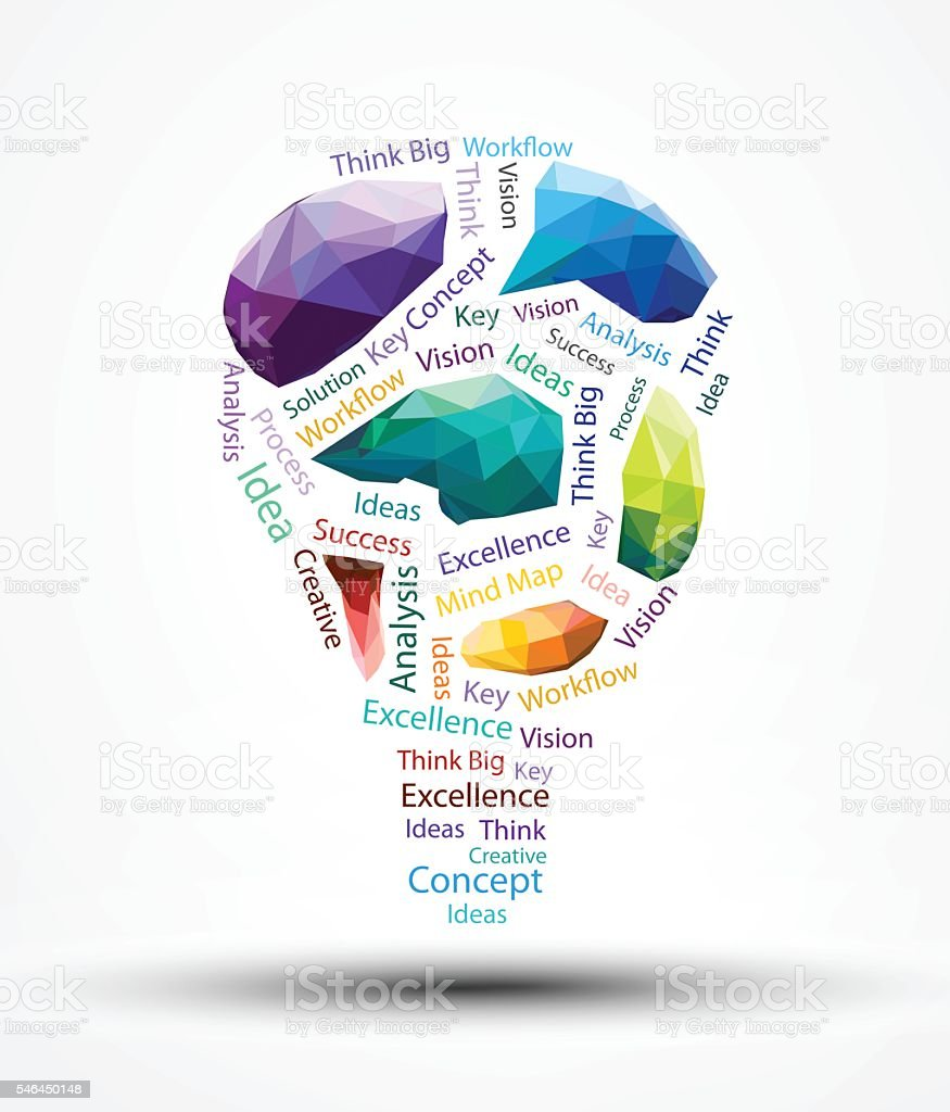 Eps10 Design Vector Lamp Polygon And Smart Word Stock