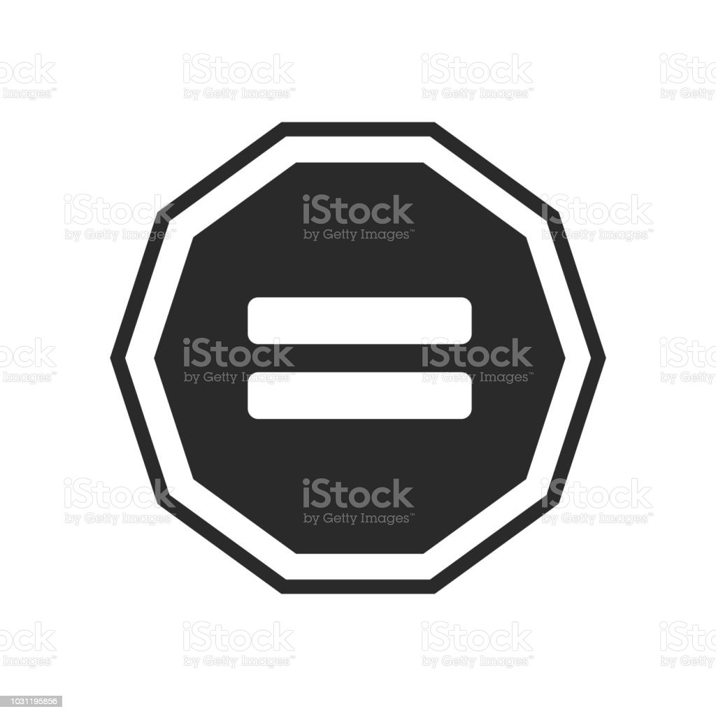 Equal Icon Vector Sign And Symbol Isolated On White Background Equal