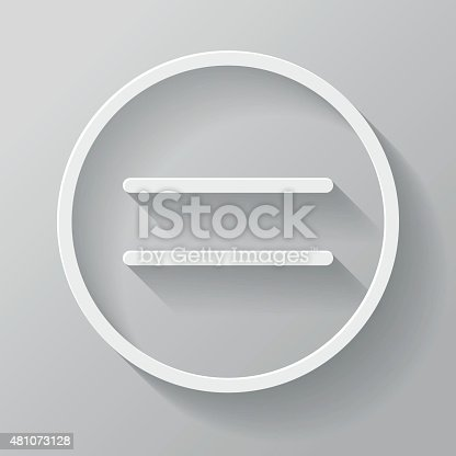 A thin line icon made of paper with a long shadow extending to the bottom right. The drop shadow is created with an unexpanded blend in Adobe Illustrator (so you can still easily modify its colors and change it's angle if needed). The shadow is transparent so it will work on different colored backgrounds. Download includes an AI10 EPS as well as a 3,000 pixel RGB JPEG.