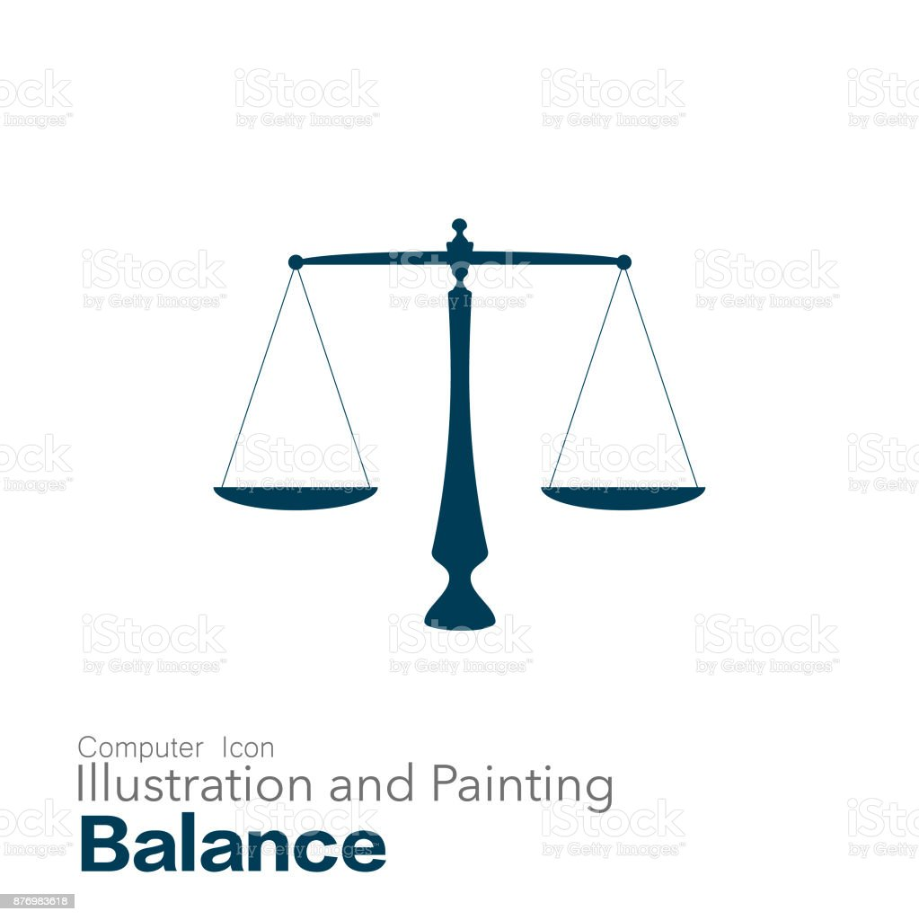 equal-arm balance vector art illustration