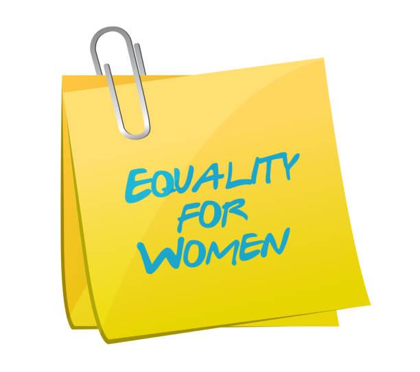Equality for women memo illustration design Equality for women memo illustration design over a white background discriminatory stock illustrations