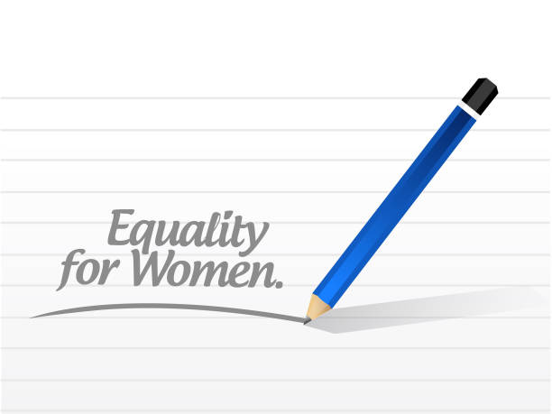 Equality for women message illustration design Equality for women message illustration design over a white background discriminatory stock illustrations